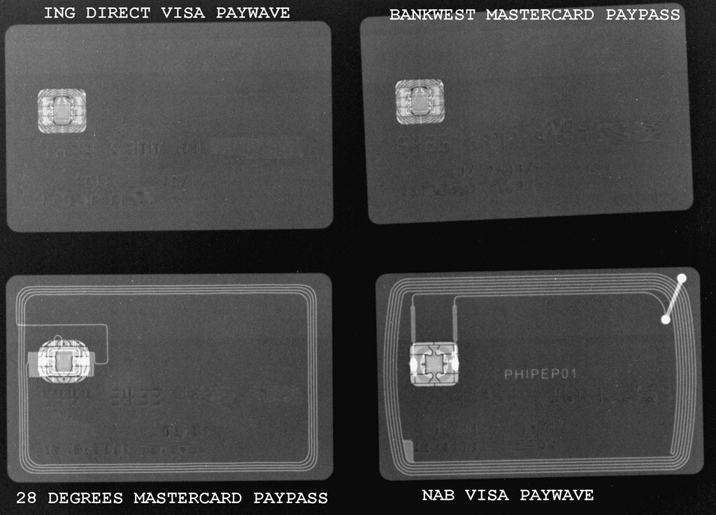 Visa advertisement for contactless credit cards